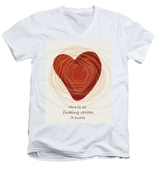 Men's V-Neck T-Shirt featuring the painting True Love by Frank Tschakert