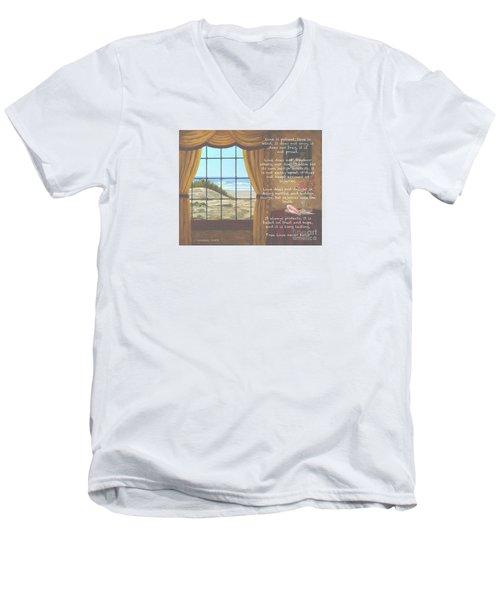 True Love Quote Men's V-Neck T-Shirt