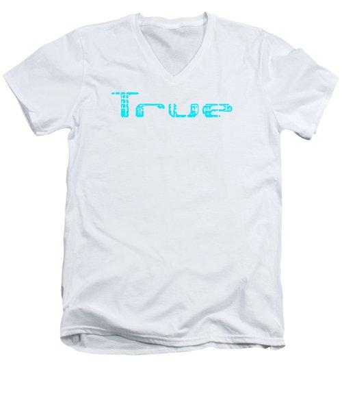 True Three Men's V-Neck T-Shirt