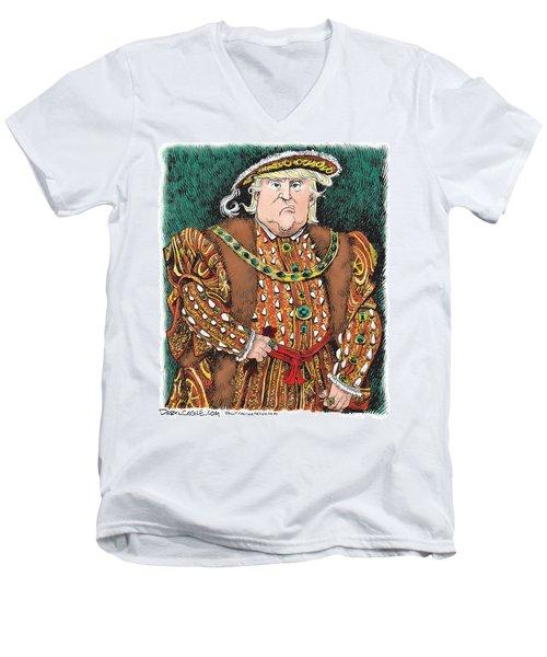 Trump As King Henry Viii Men's V-Neck T-Shirt