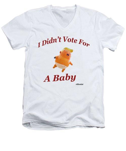Trump Baby Blimp Men's V-Neck T-Shirt