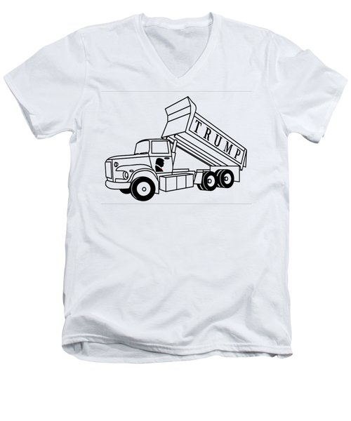 Trump Dump Truck Men's V-Neck T-Shirt