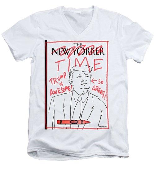 Trump Time Men's V-Neck T-Shirt