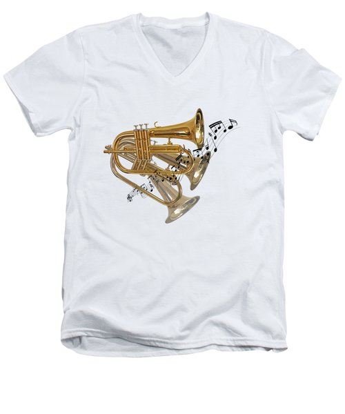 Trumpet Fanfare Men's V-Neck T-Shirt