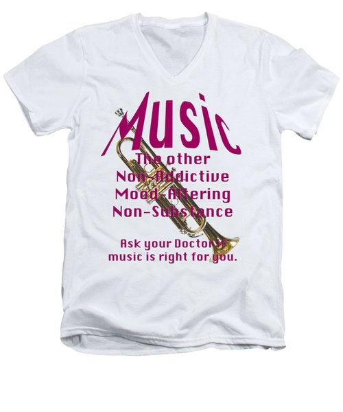 Trumpet Music Is Right For You 5496.02 Men's V-Neck T-Shirt