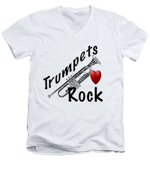 Trumpets Rock Men's V-Neck T-Shirt