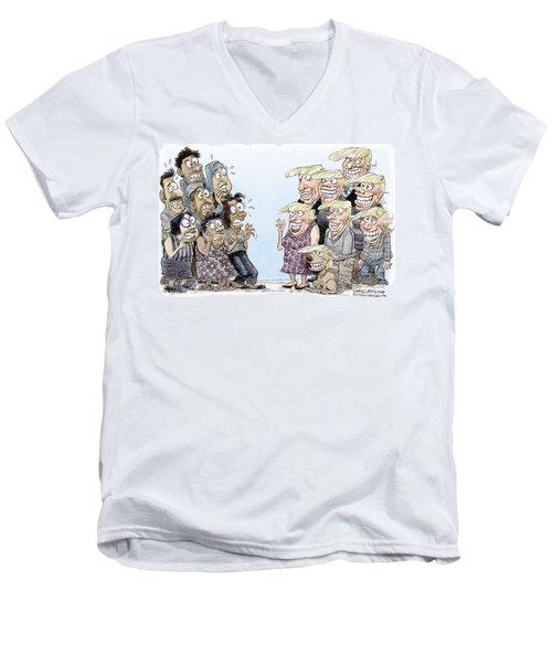 Trumpettes Horror Men's V-Neck T-Shirt