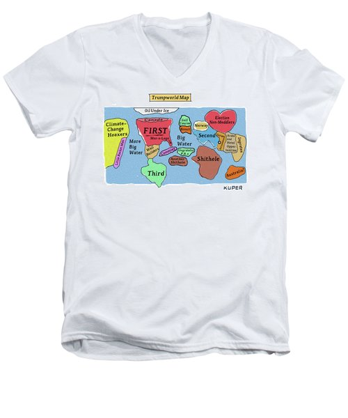 Trumpworld Map Men's V-Neck T-Shirt