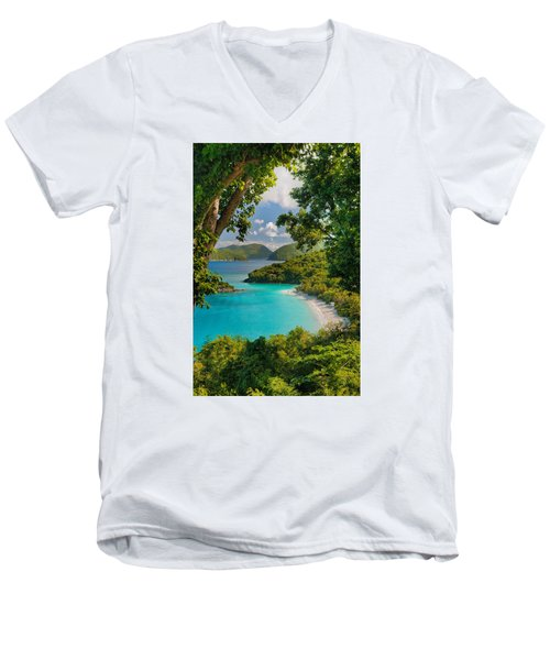 Trunk Bay Men's V-Neck T-Shirt