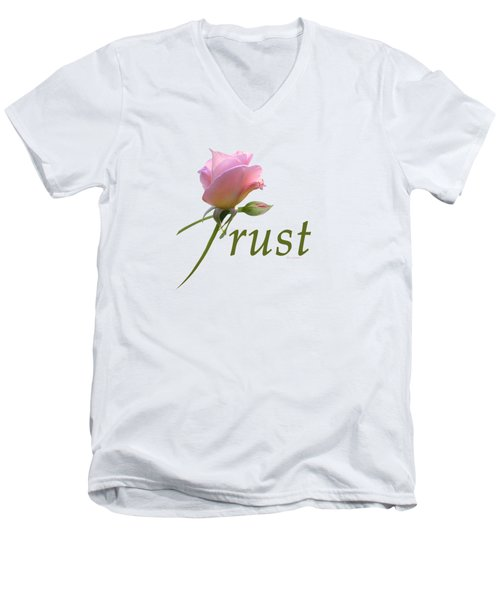 Men's V-Neck T-Shirt featuring the digital art Trust by Ann Lauwers