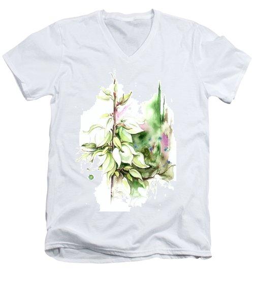 Trying On Wedding Dress Men's V-Neck T-Shirt by Anna Ewa Miarczynska