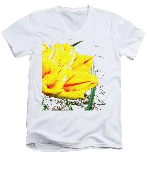 Tulip 3 Men's V-Neck T-Shirt by Vesna Martinjak
