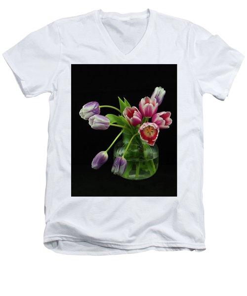 Tulip Bouqet Men's V-Neck T-Shirt