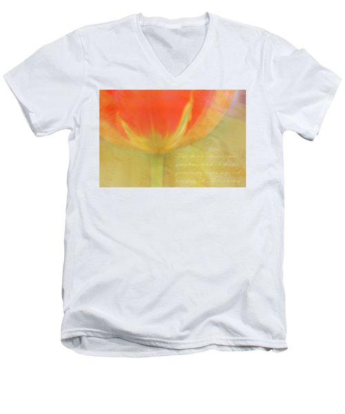 Tulip Men's V-Neck T-Shirt by Catherine Alfidi