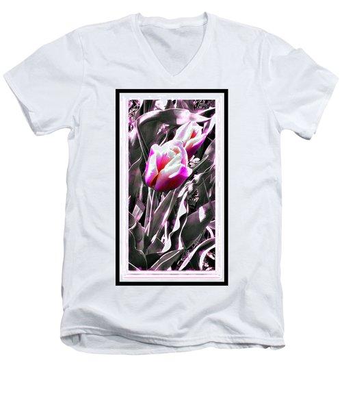 Tulip In Magenta Men's V-Neck T-Shirt