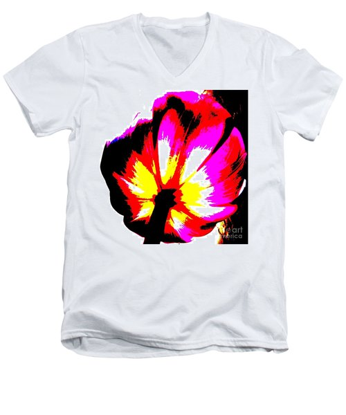 Tulip Men's V-Neck T-Shirt by Tim Townsend