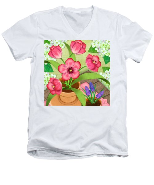 Tulips On A Spring Day Men's V-Neck T-Shirt