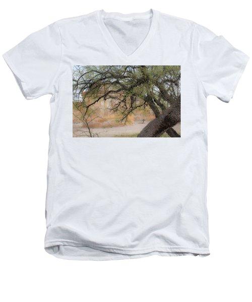 Tumacacori Mission Men's V-Neck T-Shirt