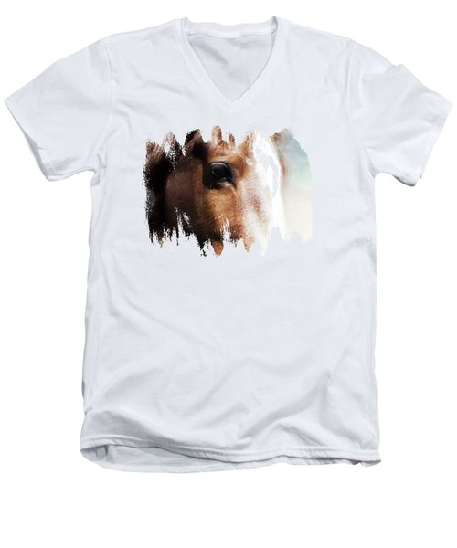 Tumbleweed Up Close Men's V-Neck T-Shirt by Anita Faye