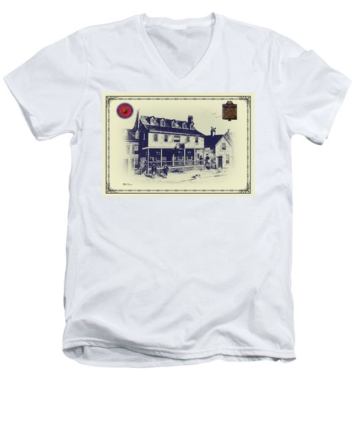 Tun Tavern - Birthplace Of The Marine Corps Men's V-Neck T-Shirt
