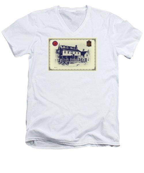 Tun Tavern - Birthplace Of The Marine Corps Men's V-Neck T-Shirt