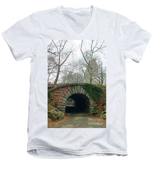 Tunnel On Pathway Men's V-Neck T-Shirt