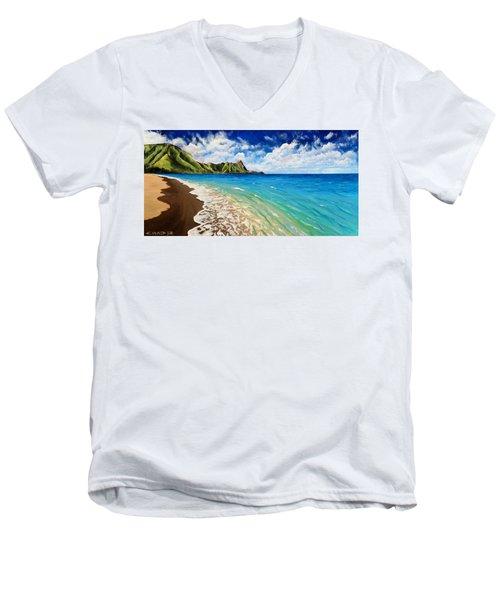 Tunnels Beach Men's V-Neck T-Shirt