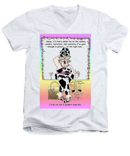 Turbanna By Talley - The Right Man  Men's V-Neck T-Shirt