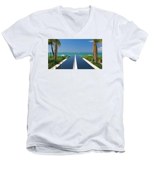 Turks And Caicos Men's V-Neck T-Shirt