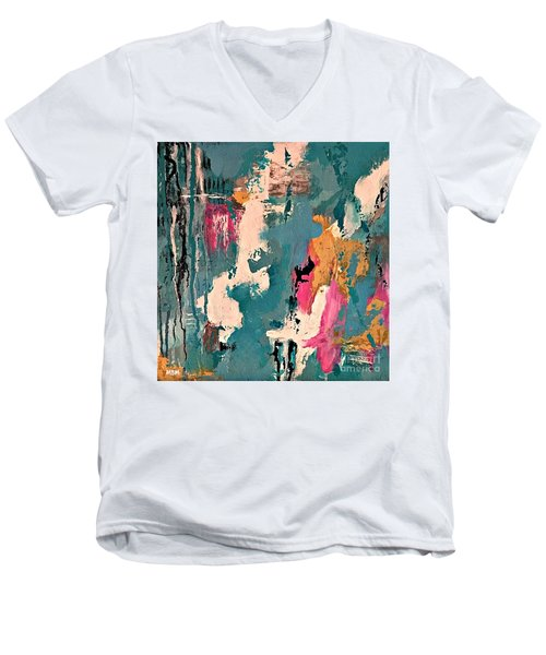 Turquoise Reflections No. 1 Men's V-Neck T-Shirt