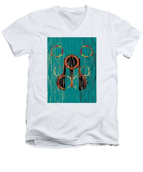 Turquoise Rings Men's V-Neck T-Shirt