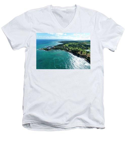 Turtle Bay Glow Men's V-Neck T-Shirt