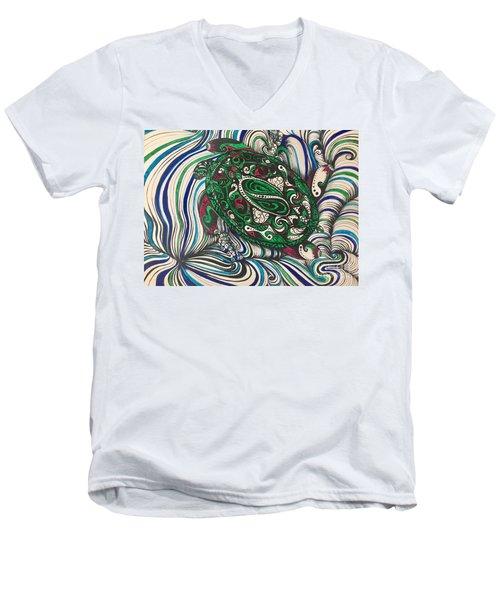 Turtle Time All Alone Men's V-Neck T-Shirt