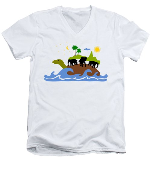 Turtles All The Way Down Men's V-Neck T-Shirt