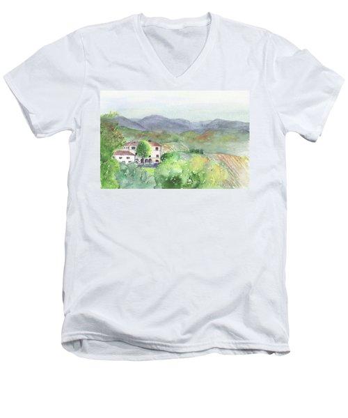 Tuscan Vineyards Men's V-Neck T-Shirt