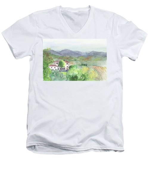 Tuscan Vineyards Men's V-Neck T-Shirt