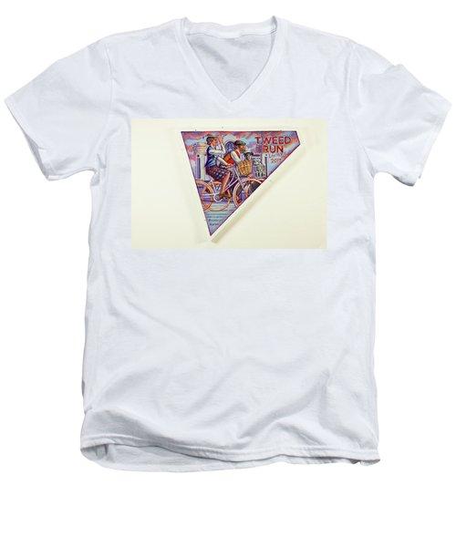 Tweed Run London Princess And Guvnor  Men's V-Neck T-Shirt