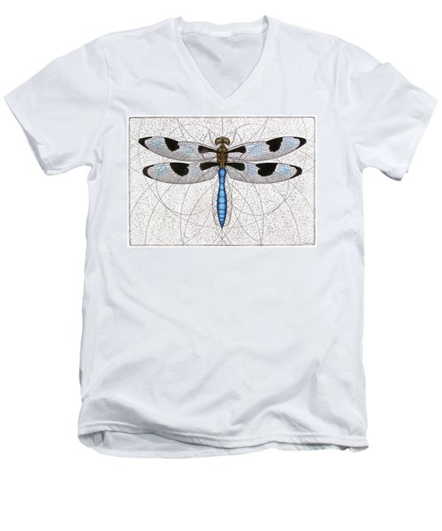 Twelve Spotted Skimmer Men's V-Neck T-Shirt by Charles Harden