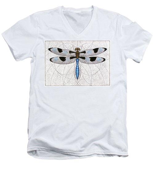 Twelve Spotted Skimmer Men's V-Neck T-Shirt