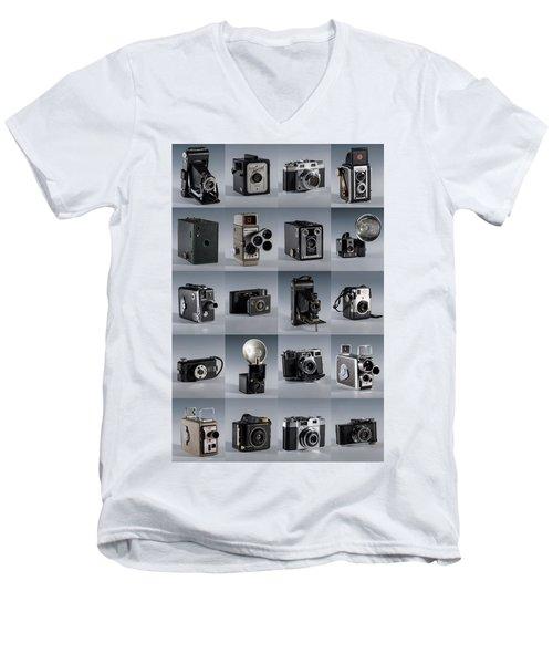 Twenty Old Cameras - Color Men's V-Neck T-Shirt
