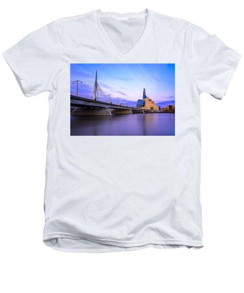 Twilight In Winnipeg Men's V-Neck T-Shirt
