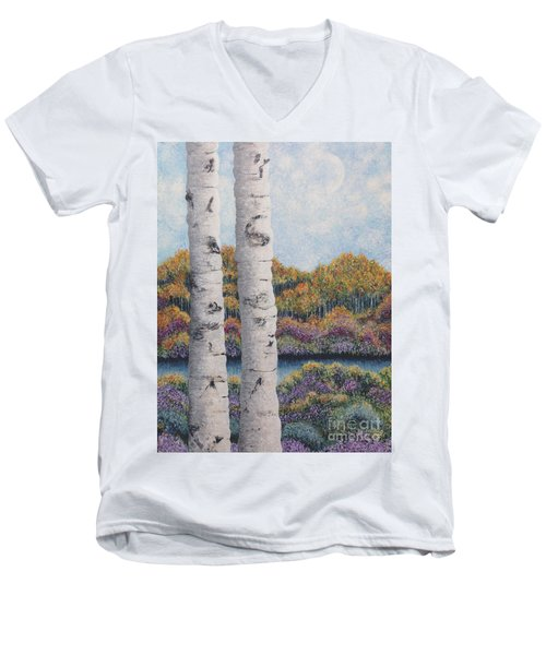Twin Aspens Men's V-Neck T-Shirt
