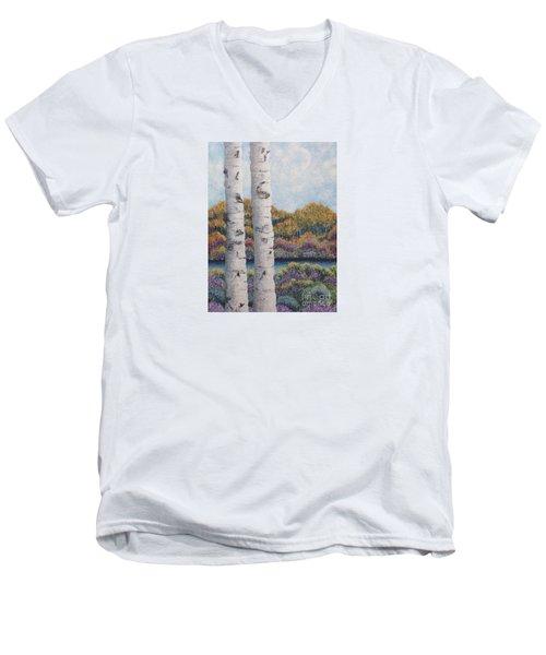 Twin Aspens Men's V-Neck T-Shirt