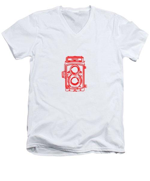 Twin Lens Camera Men's V-Neck T-Shirt