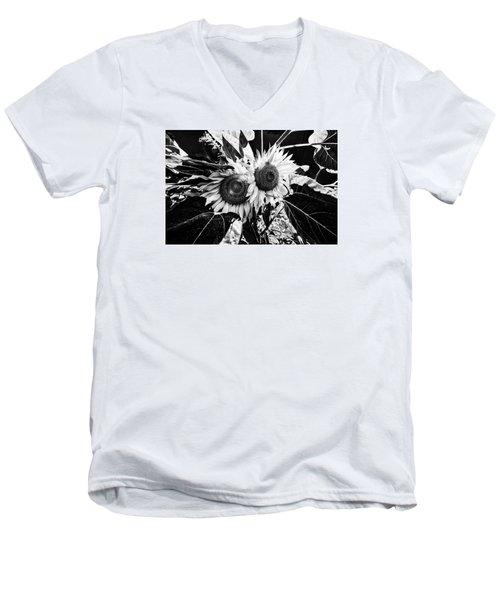 Twin Sunflowers Men's V-Neck T-Shirt