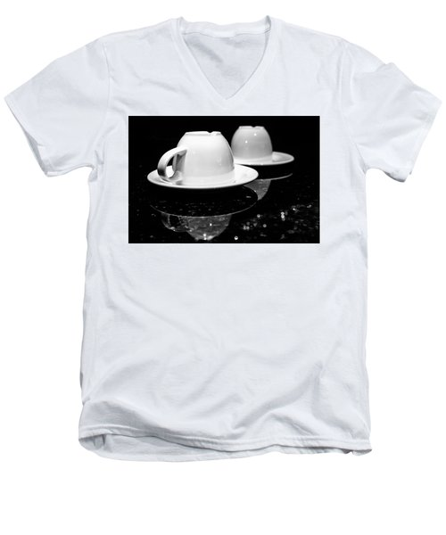 Two Coffee Cups Men's V-Neck T-Shirt