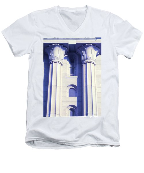 Two Columns Men's V-Neck T-Shirt