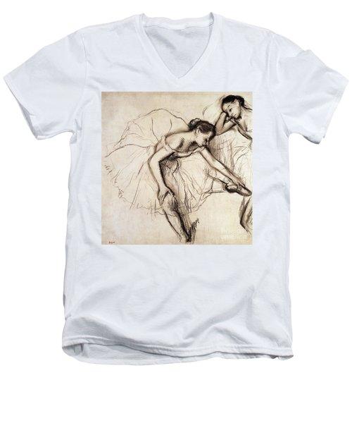 Two Dancers Resting Men's V-Neck T-Shirt