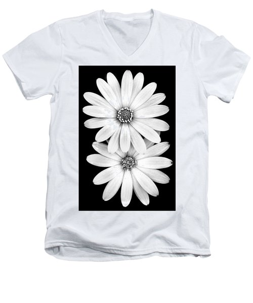 Two Flowers Men's V-Neck T-Shirt by Az Jackson