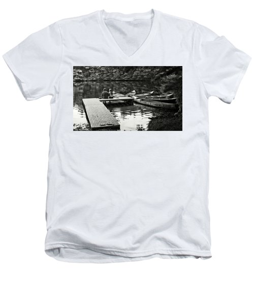 Two In A Boat Men's V-Neck T-Shirt by Alex Galkin